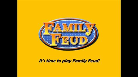 Template Family Feud Youtube Family Feud Template