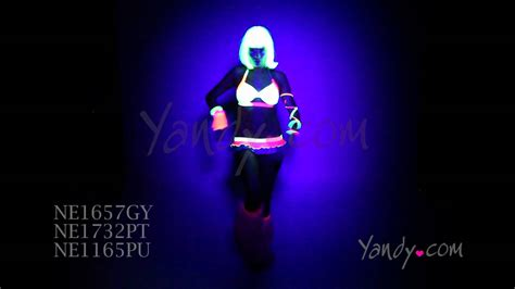 black light clothes layers and lace neon black light