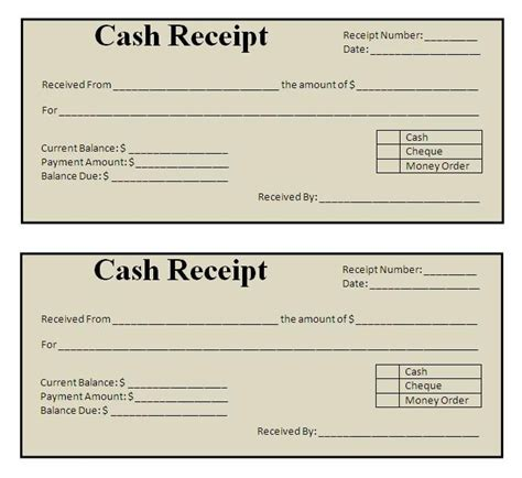 receipt template click on the download button to get