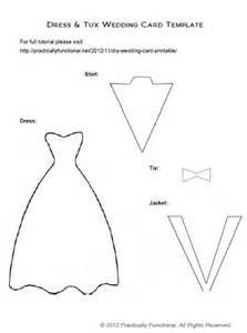 Wedding Dress Template by Diy Wedding Card Dress Tux Trifold Printable