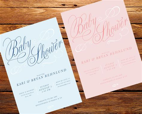 Baby Shower Personalized Invitations by Baby Shower Custom Baby Shower Invitations Card
