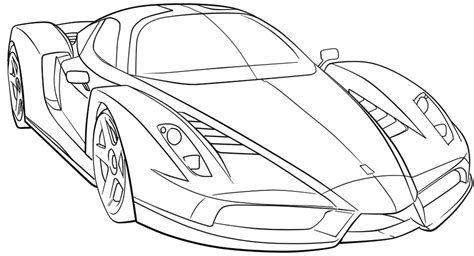 coloring page sports cars ferrari sport car high speed coloring page ferrari car