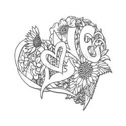 coloring pages for adults hearts wedding shower coloring page digital