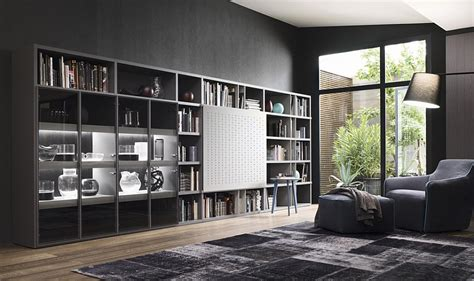 Living Room Wall Unit | contemporary living room wall units and libraries ideas