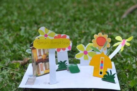 cara membuat bunga dari kertas nasi craft for kids prakarya mudah untuk anak miniatur taman