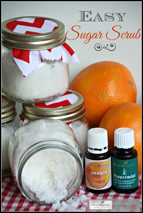 DIY Orange and Peppermint Sugar Scrub