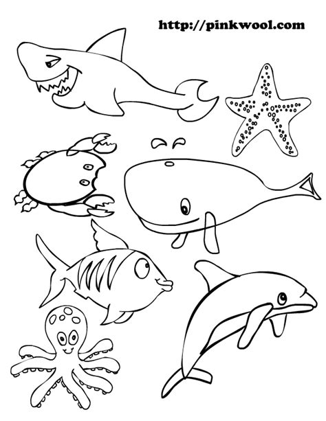coloring page ocean animals ocean animals coloring pages this is a coloring page