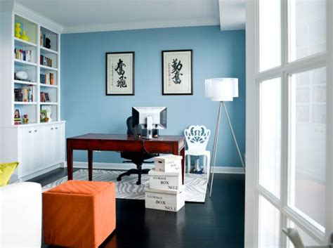 Blue Office by How To Decide Which Color Is Best For Your Home Office