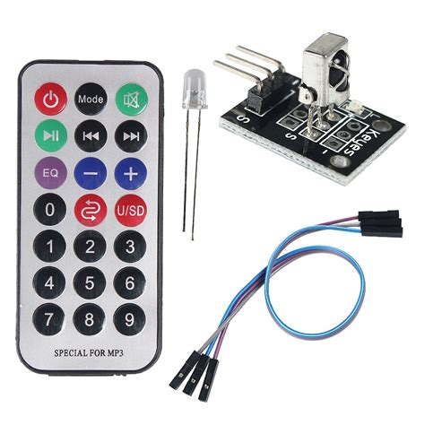 Infrared Ir Wireless Remote Receiver Module For Arduino Hq useful 4 in 1 arduino ir receiver module wireless remote kit 2 215 ag10 ebay