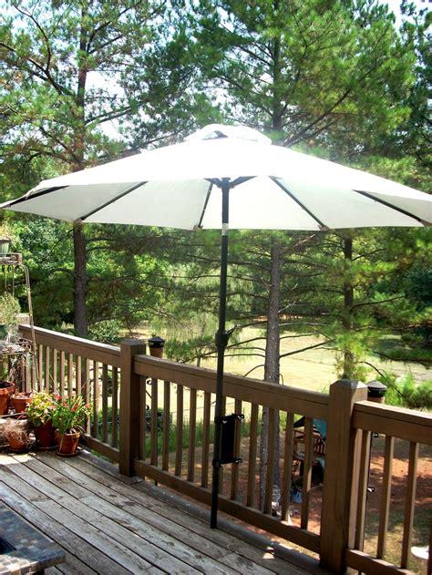 Patio Umbrella Deck Mount Umbrella Mount For The Deck Space Saver For The Home