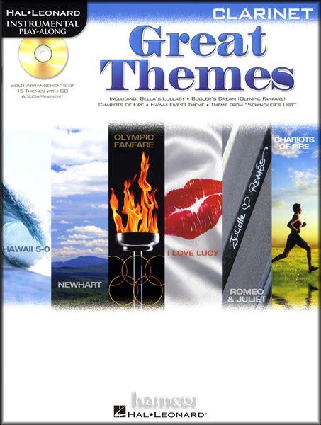 tv themes music book great themes clarinet instrumental playalong sheet music