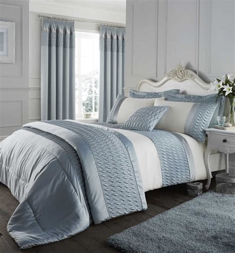 bed sets with curtains duck egg catherine lansfield bedding bed set curtains