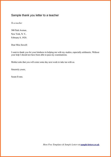 thank you letter to thank you letter to soap format