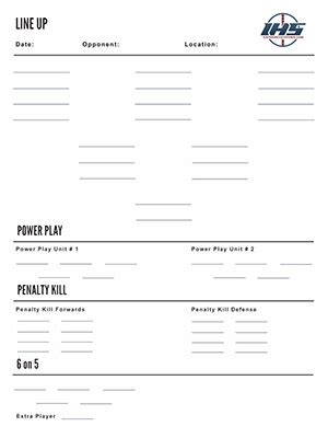 hockey bench card template free hockey downloads hockey systems inc