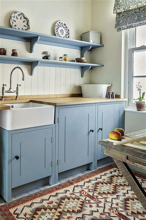 british kitchen design british standard shaker style wooden cupboards pale blue