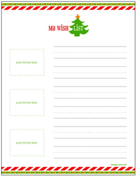 Family Gift Ideas christmas gift wish lists for kids free printable