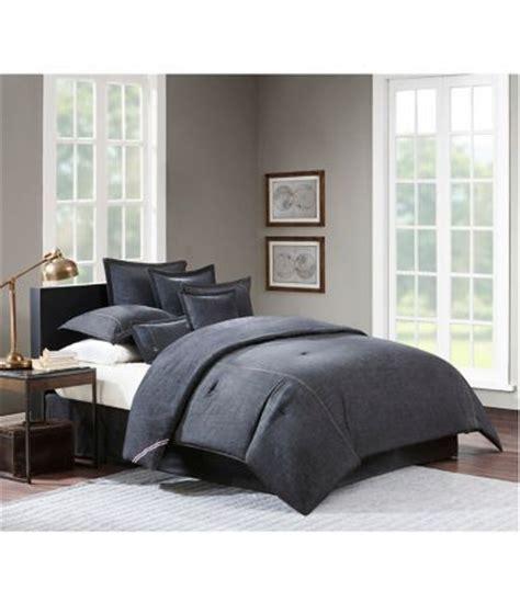cremieux vintage washed denim comforter shops the o