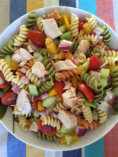 chicken pasta salad recipe easy chicken pasta salad healthy main dish pasta salad