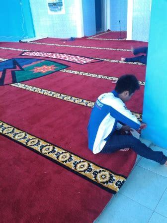 Karpet Moderno Di Surabaya pemasangan karpet masjid di lanud surabaya hj karpet