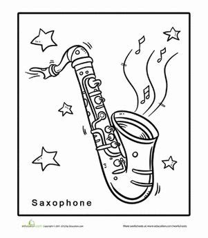 coloring pages jazz instruments 17 best images about music printables on pinterest
