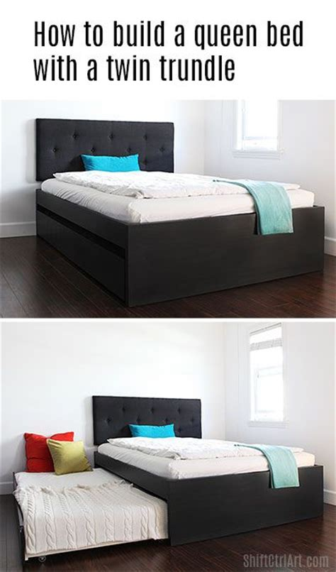 how to build a trundle bed best 20 queen bedding ideas on pinterest