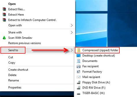 membuat file menjadi zip cara membuat file rar zip infotech computer centre