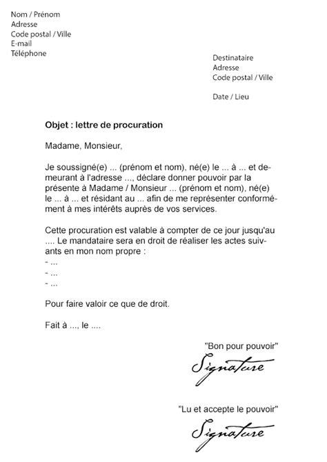 Exemple De Lettre De Procuration Pour Retrait De Diplome Lettre De Procuration Simple Mod 232 Le De Lettre