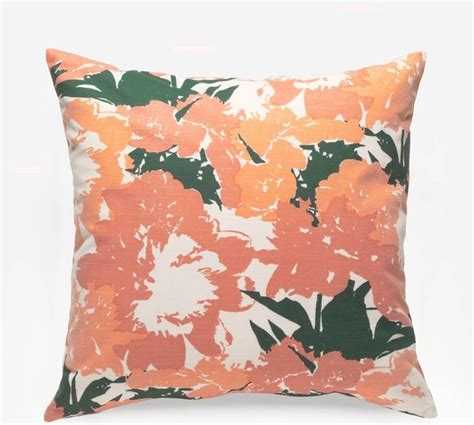 lush apricot square pillow decorative