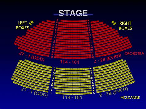Music Studio Floor Plan by Music Box Theatre 3 D Broadway Seating Chart History