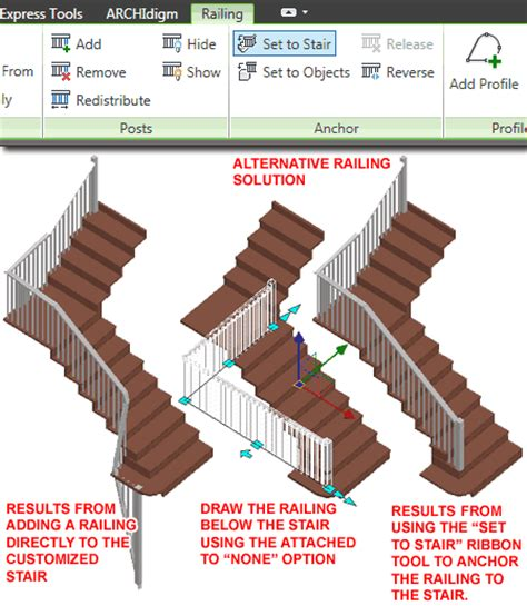 Handrail End Autocad Architecture Custom Stairs
