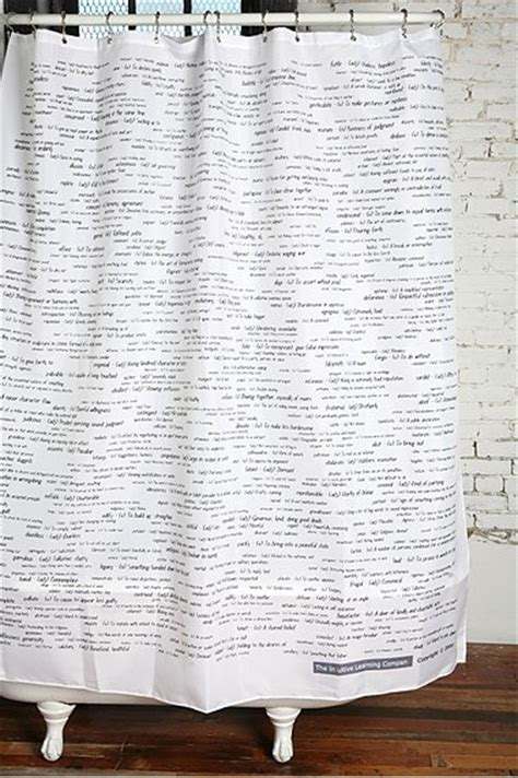shower curtains with words sat words shower curtain remodelista