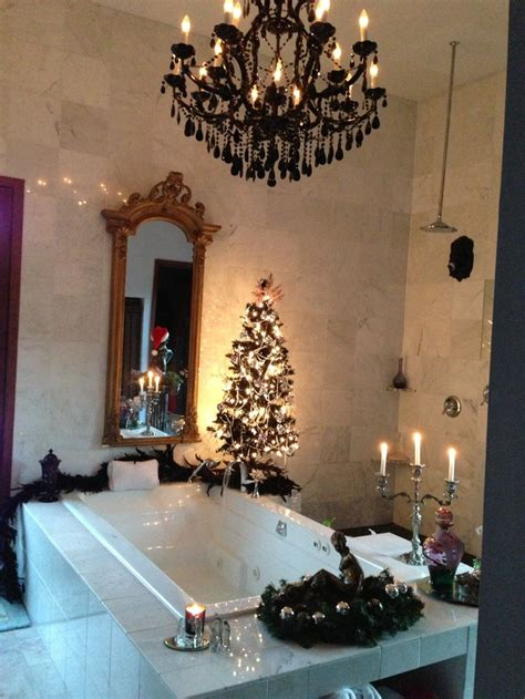 holiday bathroom decor elegant christmas bathroom christmas xmas holiday