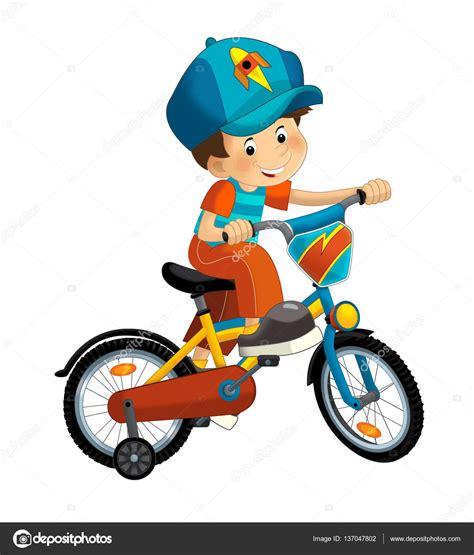 imagenes de niños jugando en bicicleta ni 241 o de dibujos animados en la bicicleta foto de stock