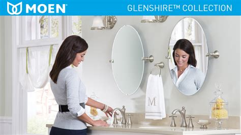 shop moen glenshire 22 81 in x 26 in chrome oval frameless moen glenshire 26 in x 22 in frameless pivoting wall