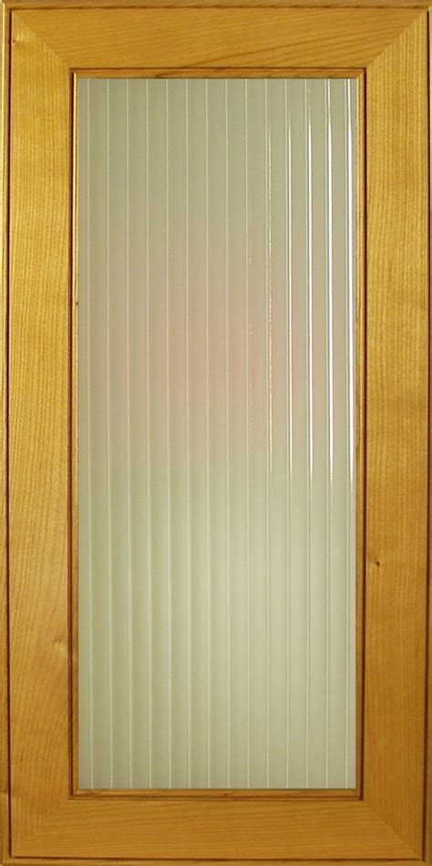 Sandblasted English Reeded Glass for cabinet and accent