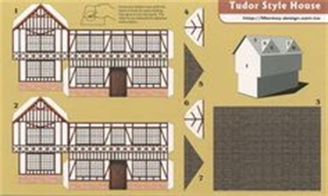 tudor house template paper houses on postcards cut outs and 3d