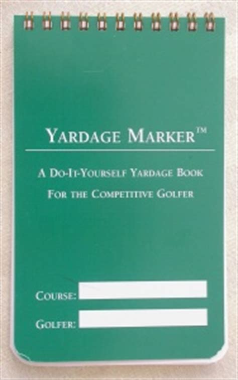 Do It Yourself Yardage Booklets Yardage And Strategy Booklet Yardage Book Golf Notebook Template