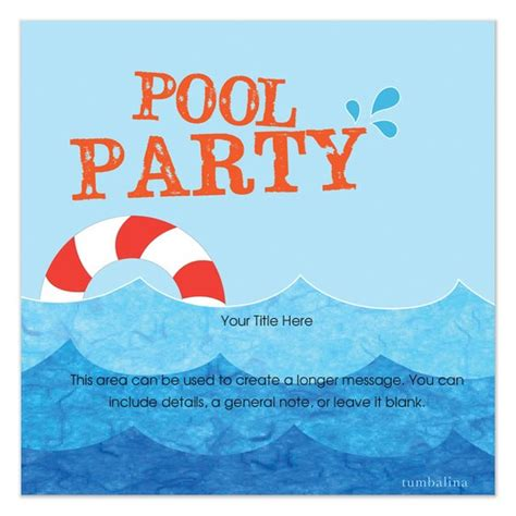 pool invitation template word make your own pool invitations free wedding