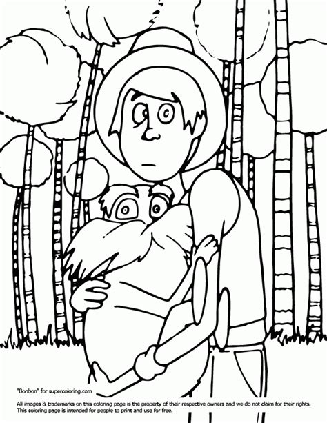 The Lorax Bears Coloring Pages by 91 Lorax Coloring Page The Lorax Trees
