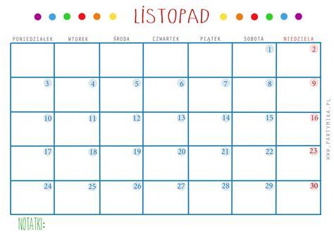 kalendarz 2016 do wydruku kalendarz i planer do druku partymika
