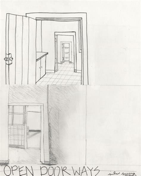 open door drawing perspective. Open Door Drawing Perspective