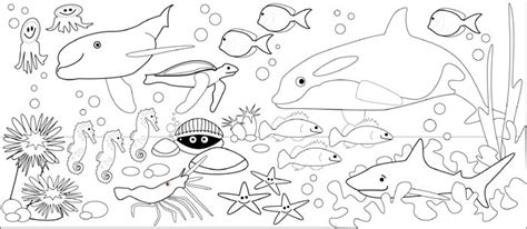 underwater world printable coloring pages underwater animals coloring pages getcoloringpages com