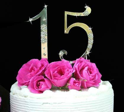 French Flower ~ Large Sweet 15 & Sweet 16 Cake Topper Set