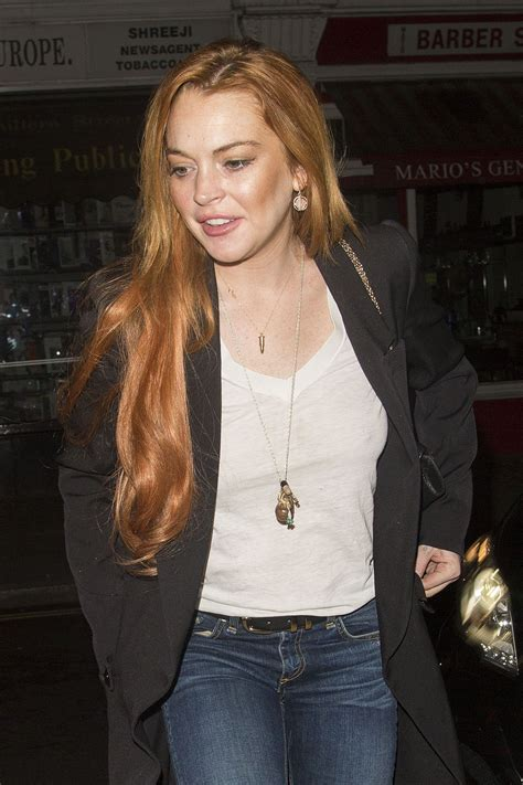 Lindsay Lohan Menuous by Lindsay Lohan Leaves Chiltern Firehouse In Hawtcelebs