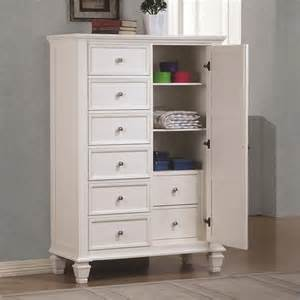 coaster armoire in white 201308