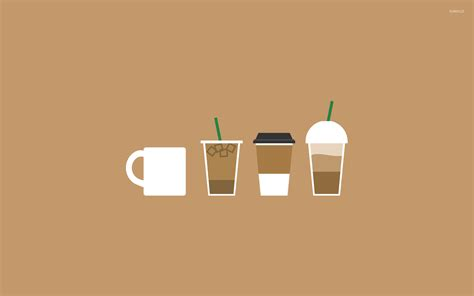 Different coffee types wallpaper   Vector wallpapers   #23934