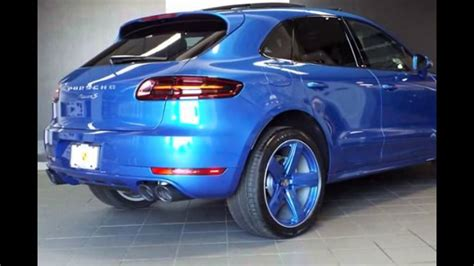 porsche macan 2016 blue 2016 porsche macan sapphire blue metallic youtube