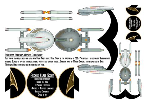 Trek Papercraft - trek archer class scout papermini by theshepster on