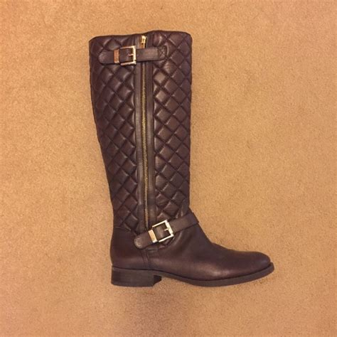 Vince Camuto Quilted Boots by 47 Vince Camuto Shoes Vince Camuto Brown Leather