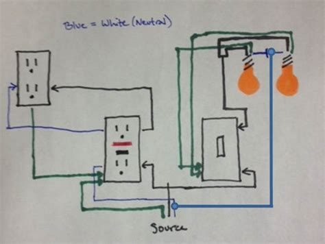 wiring a room with lights and outlets adding light from light switch and receptacle wiring